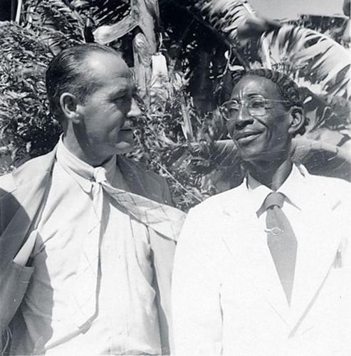 Dewitt Peters with Hector Hyppolite, 1948 by A.Metraux