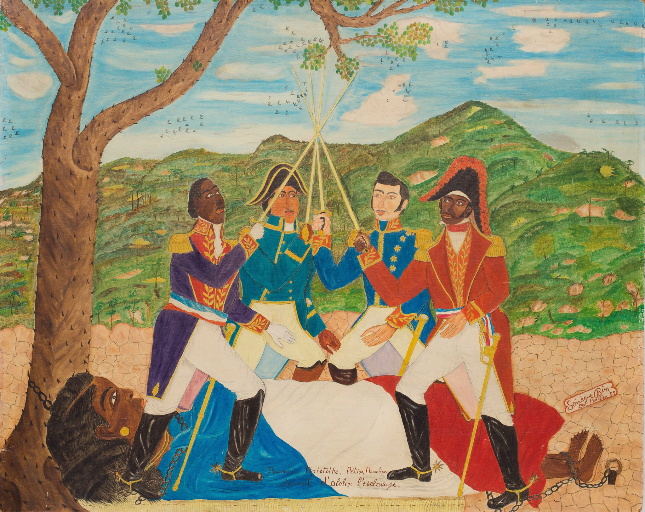 Toussaint, Christophe, Petion, Dessalines (Vowing to Abolish Slavery), 1959