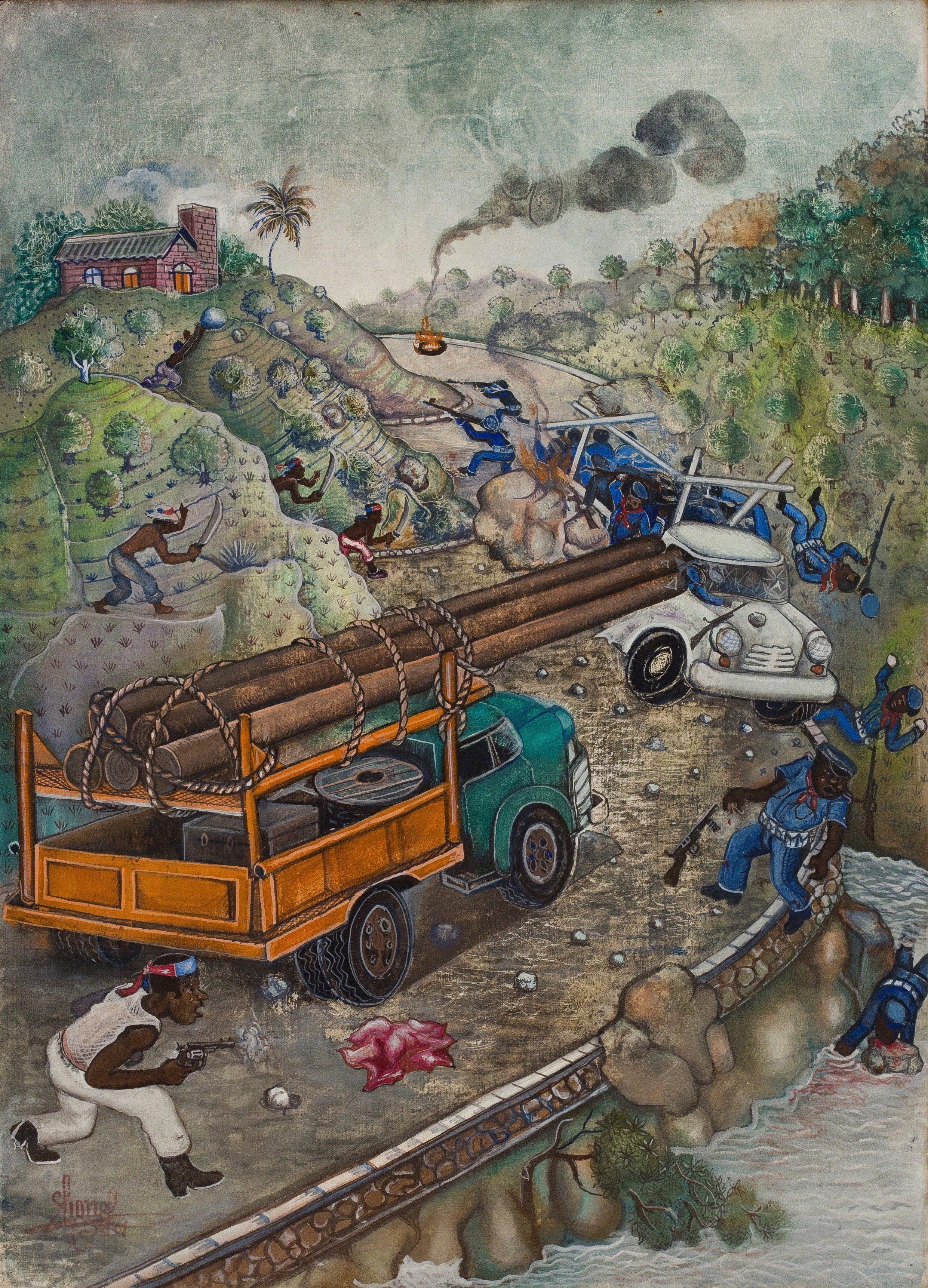 The People Ambush Duvalier Forces, 1986
