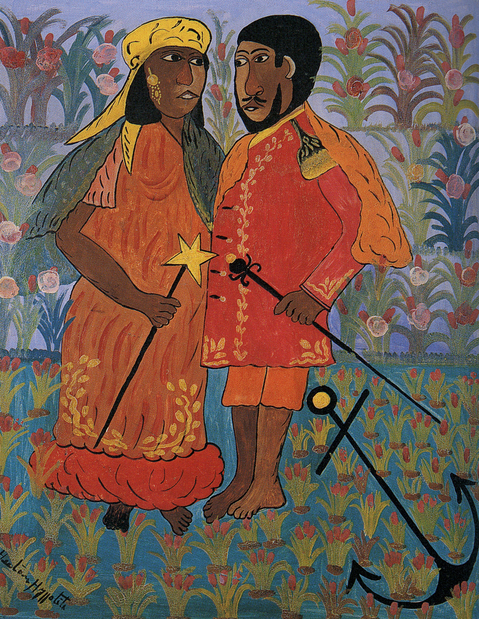 Agwe and his Consort, 1947