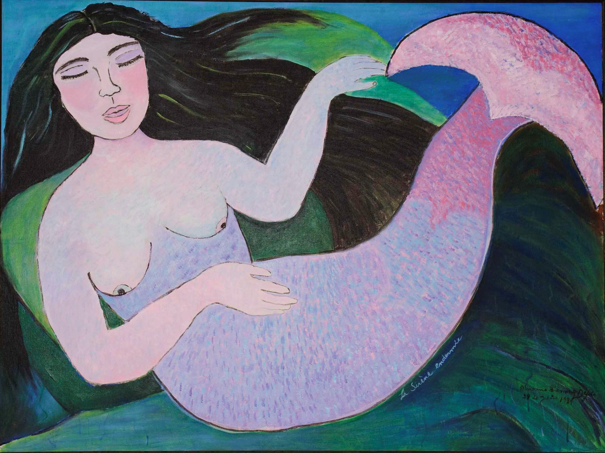 La Sirène Endormie (sleeping mermaid), 1987