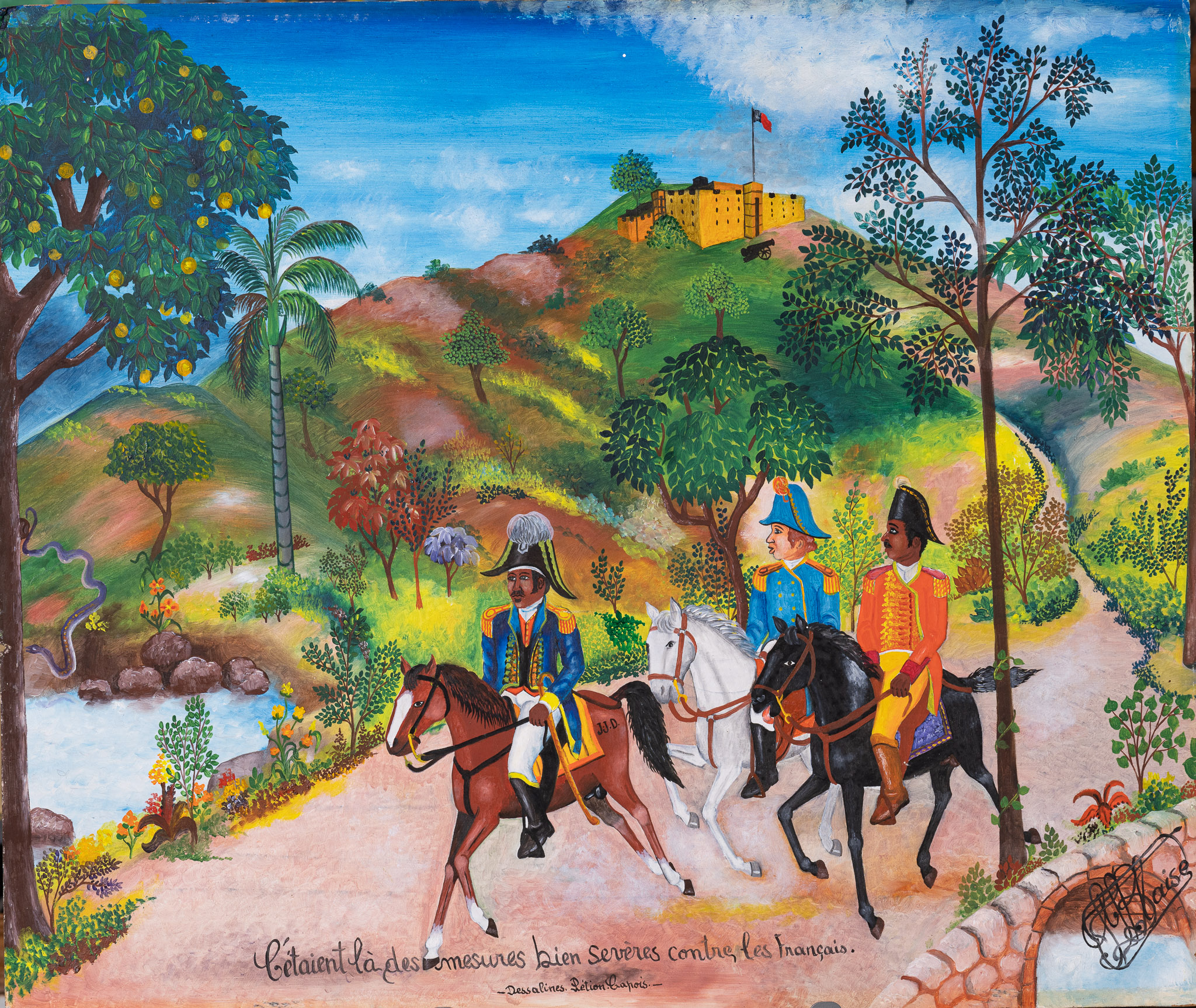 Dessalines, Petion and Capois, 1975
