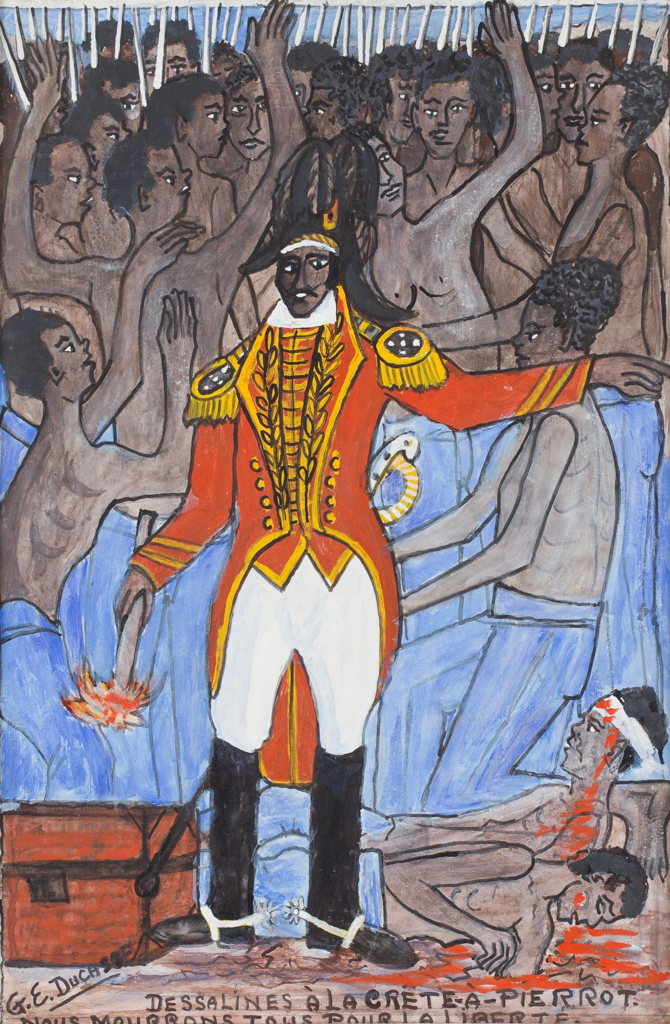 Dessalines At La Crete-A-Pierrot.  We Will All Die For Freedom, 1974