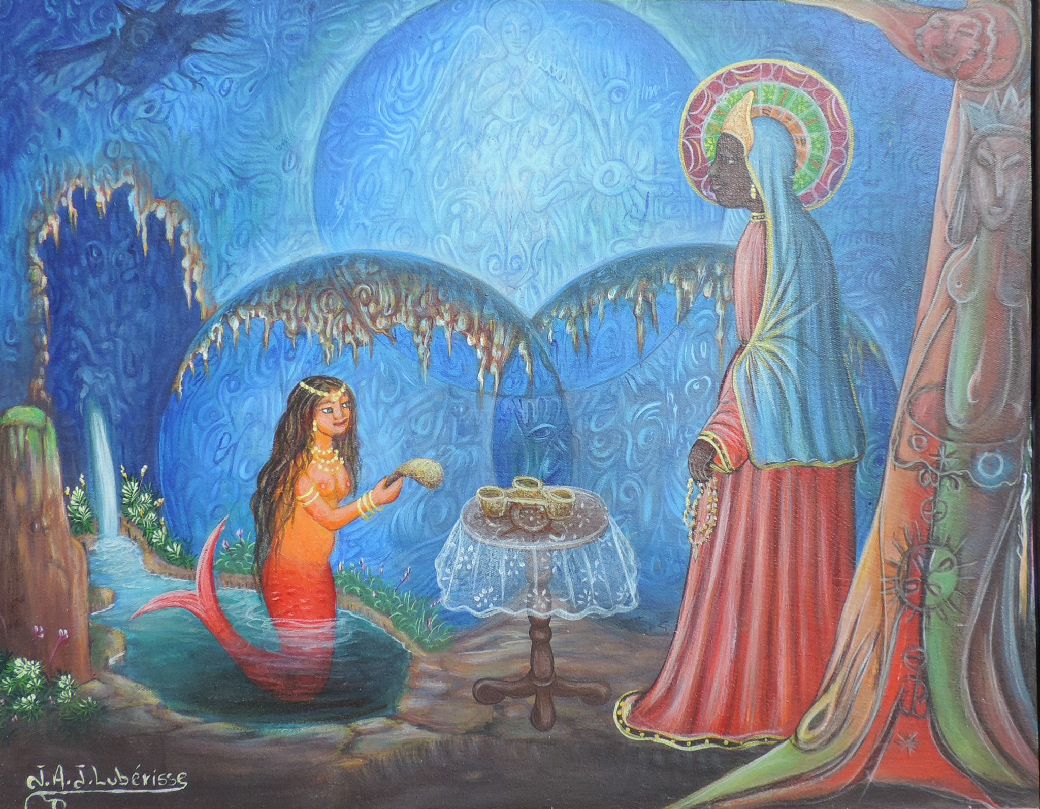 Erzulie and La Sirene Under the Mapou Tree, 2000s