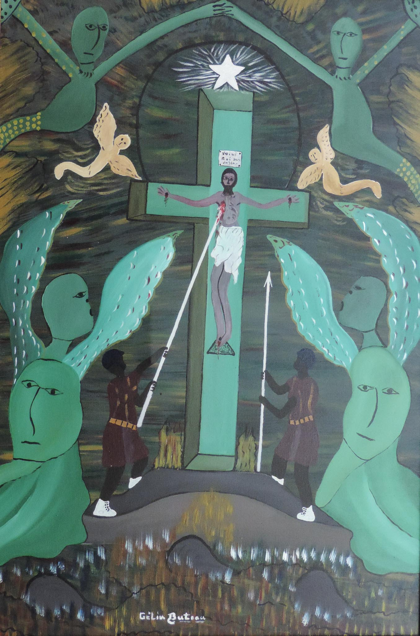 Crucifixion with Lwas, 1990s