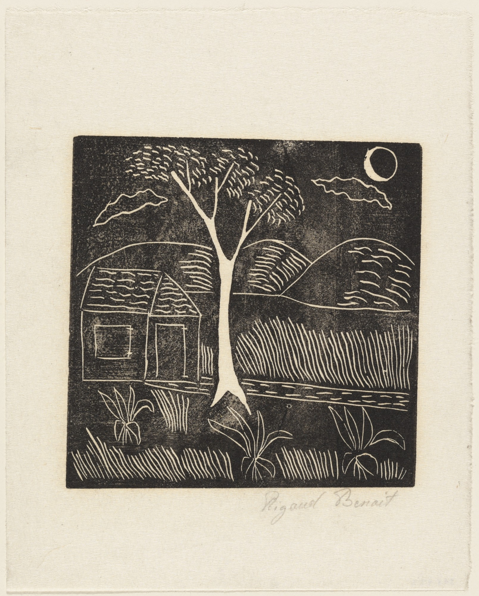 Untitled Woodcut, 1947