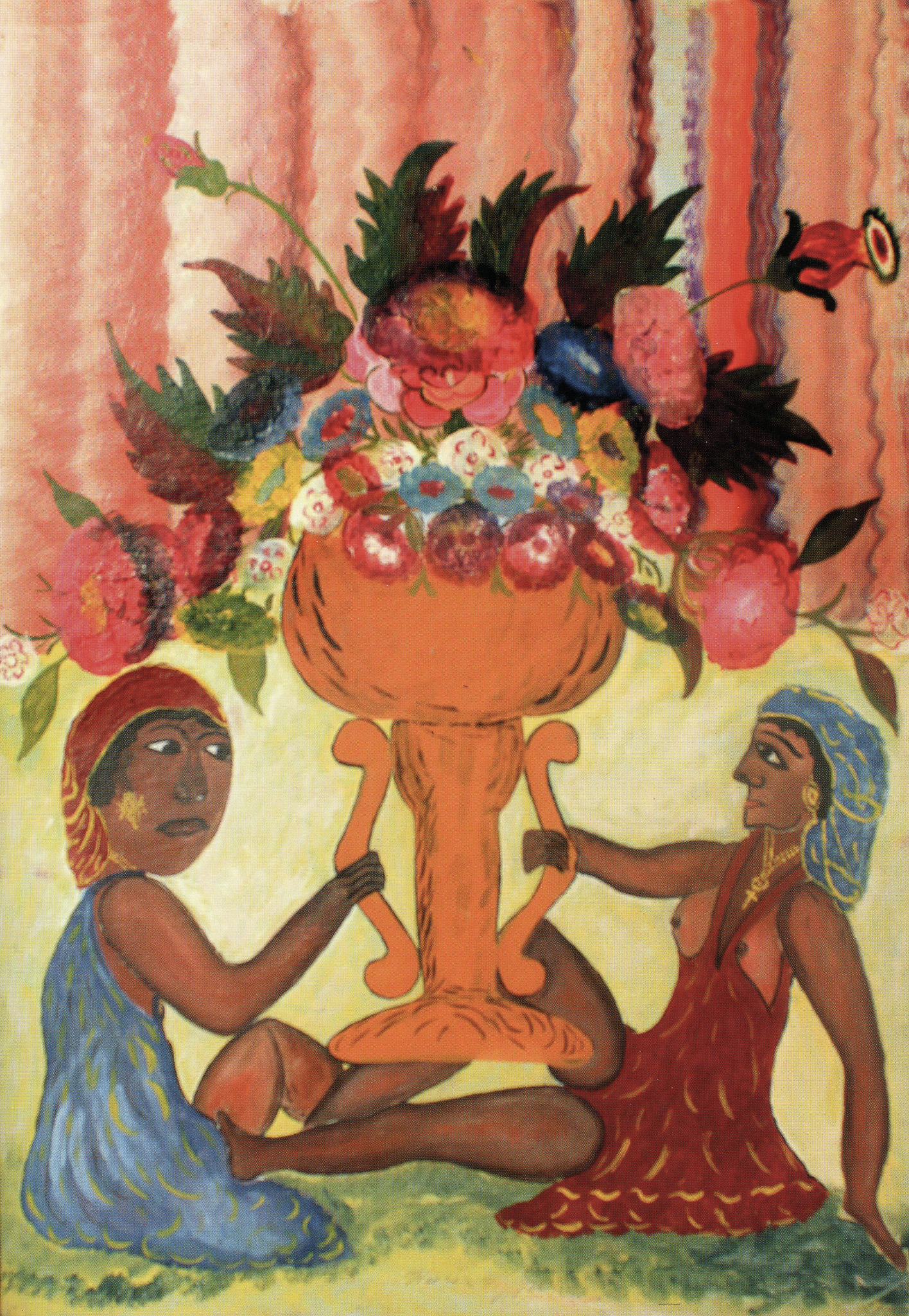 Two Priestesses with Vase, 1945