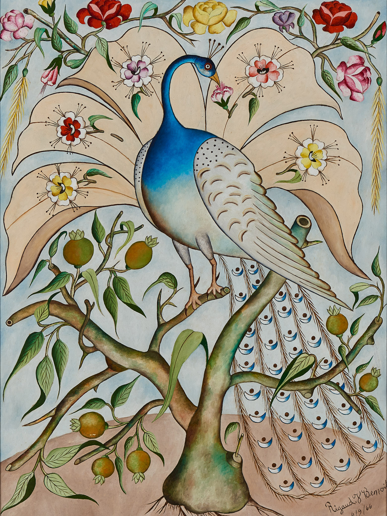 Bird on Oil, 1966