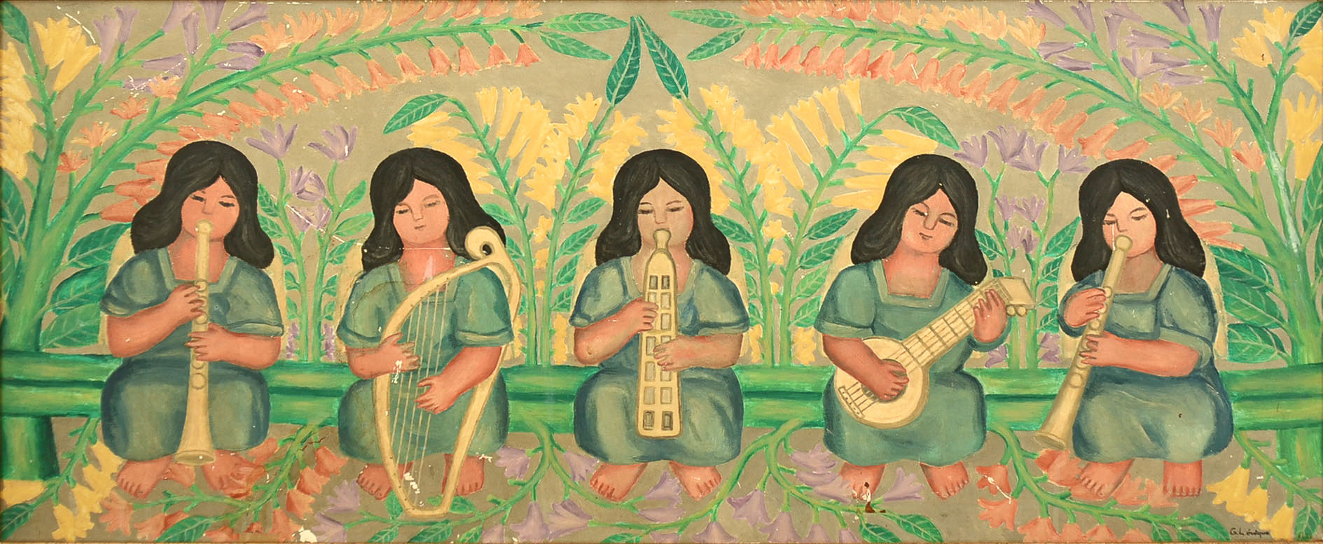 Five Angels Making Music