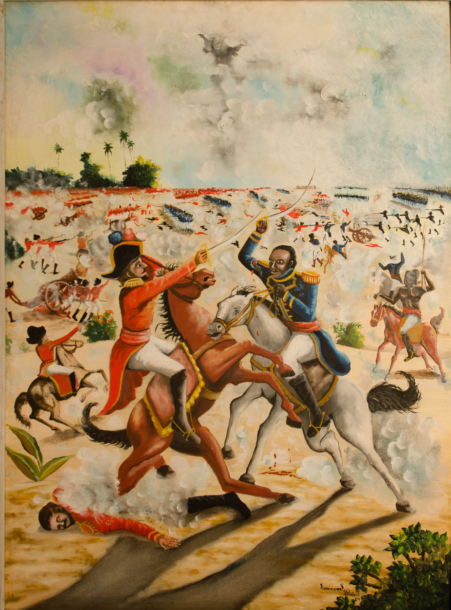 Generals Battle on horseback, 1977