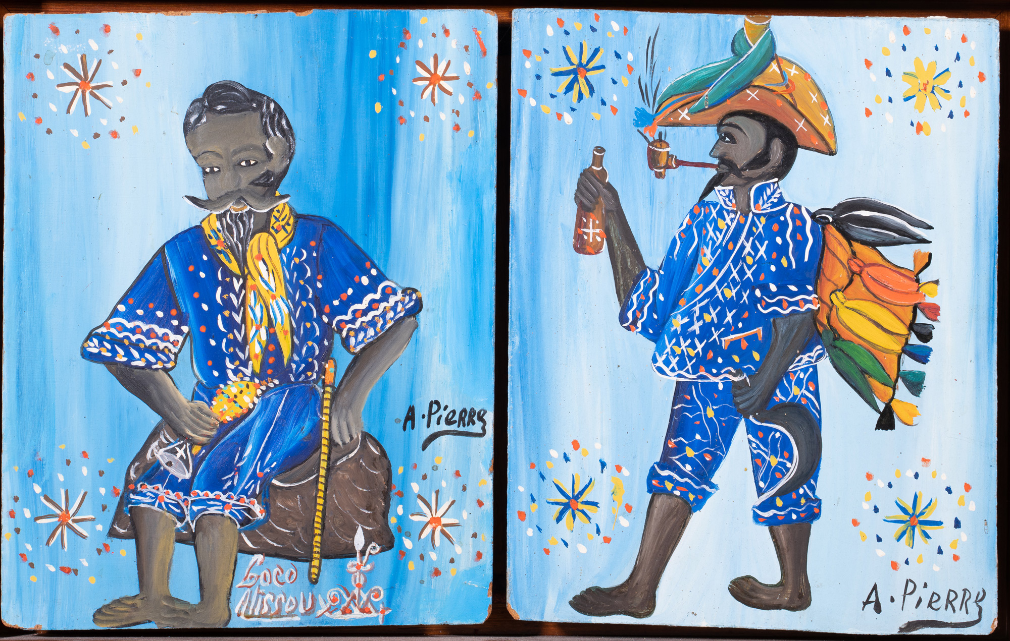 Andre Pierre - Two Men Diptych