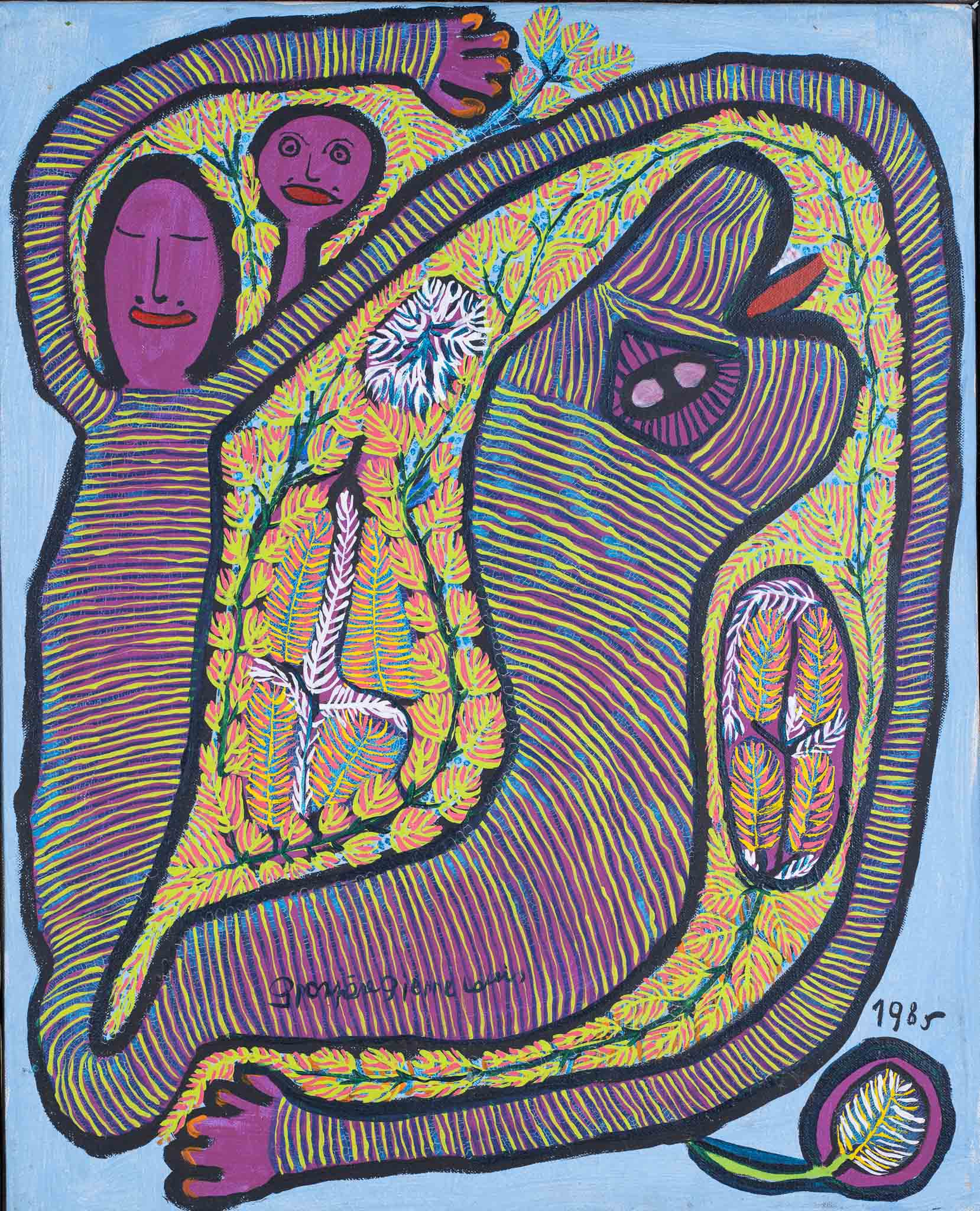 Woman with Snake, 1985